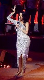 Photographie de Dana International lors d'une représentation