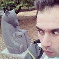 Dang baby bear have all the fun me #selfieolympics @calacademy #casnightlife sculpture garden art (by j bizzie) 20140809.jpg
