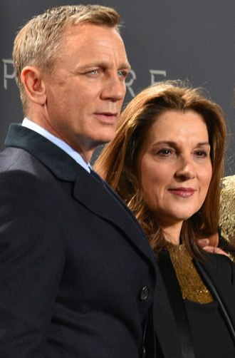 Barbara Broccoli - Barbara Broccoli (right) with Daniel Craig at the premiere of Spectre