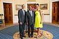 Daniel Kablan Duncan with Obamas 2014.jpg