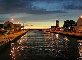 Wieprza - Wieprza river mouth in Darłówko