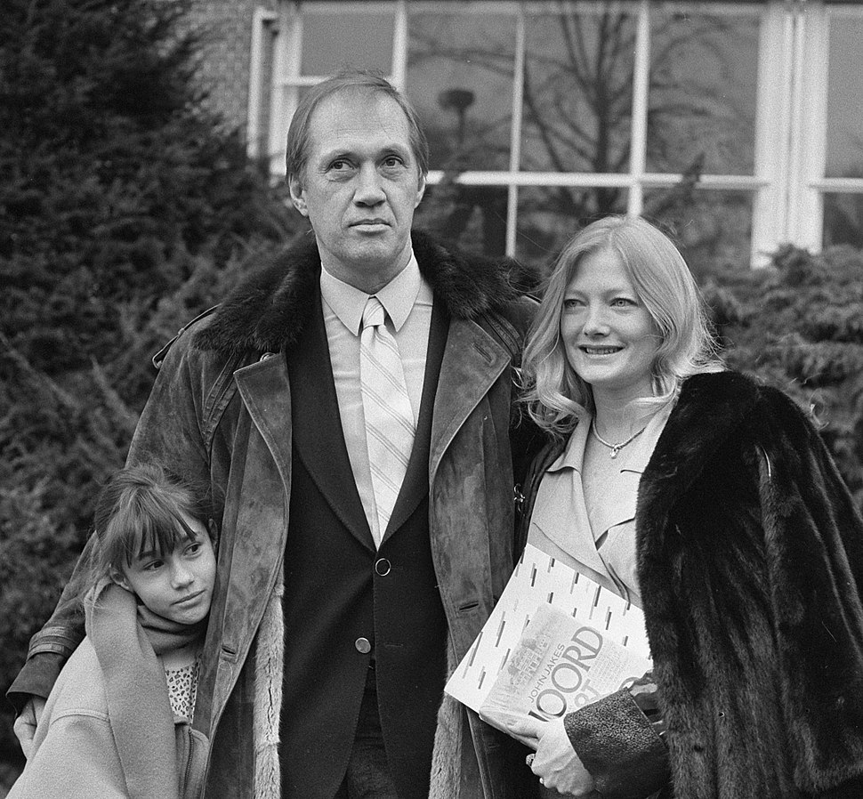 David Carradine with family in 1987