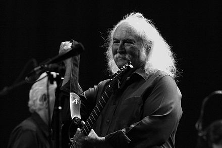 Crosby performing in 2012 as part of Crosby, Stills & Nash David Crosby 2012 1.jpg