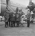 De Franse vocale groep Les Swingle Singers uit Parijs op Schiphol voor optrede, Bestanddeelnr 916-1369.jpg