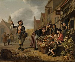Jan Victors: The greengrocer at the sign of 'De Buyscool'