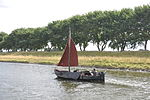 De zalmschouw RO38 uit 1898 op weg naar huis op het Kanaal door Walcheren (02).JPG