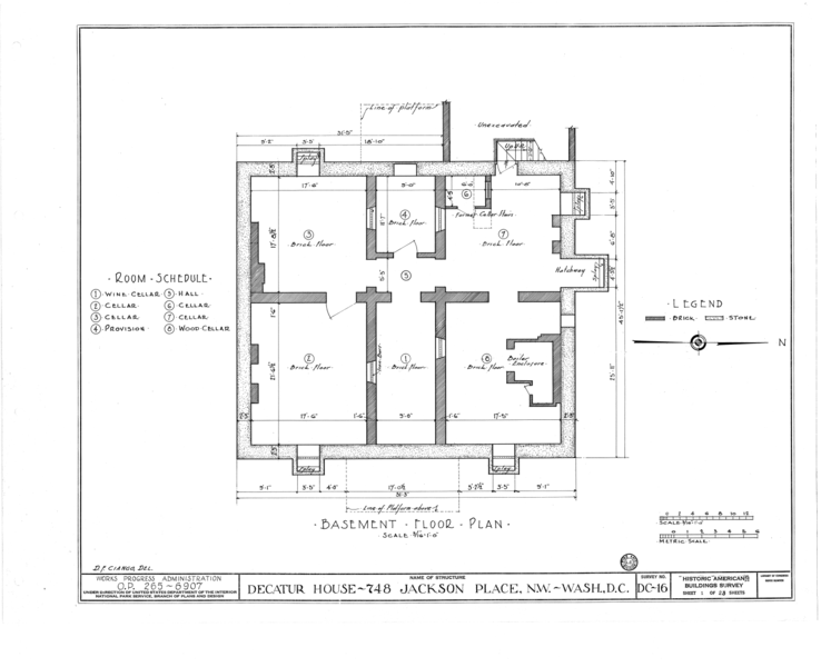 File:Decatur House, National Trust for Historic Preservation, 748 Jackson Place Northwest, Washington, District of Columbia, DC HABS DC,WASH,28- (sheet 1 of 23).png