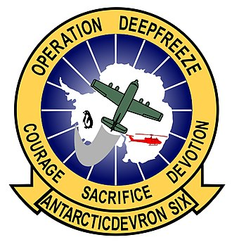 Operation Deep Freeze - Squadron patch for the Navy Antarctic Development Squadron SIX (VXE-6), known as the Puckered Penguins.