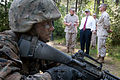 Defense.gov News Photo 110513-A-0193C-009 - A Marine recruit awaits instruction while Secretary of Defense Robert M. Gates observes The Crucible at Parris Island S.C. on May 13 2011. The.jpg
