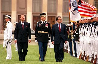 Romano Prodi - Prodi with United States Secretary of Defence William Cohen