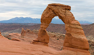 Natural arch - Delicate Arch in Arches National Park, Utah, United States
