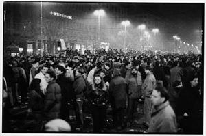 1991 protests in Belgrade - Image: Demonstracije Terazijska cesma 1