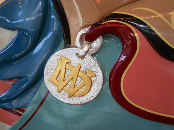 Makers Mark On The Lead Horse Woodside Amusement Park Carousel