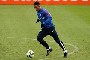 Memphis Depay - Memphis Depay training with the Netherlands in March 2015