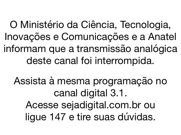 Desligamento do sinal anal%C3%B3gico em Brasil