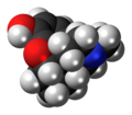 Desomorphine molecule spacefill.png