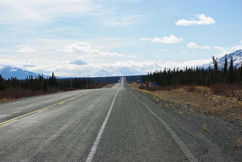 File:Destruction Bay Alaska Highway.jpg