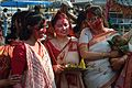 Devotees - Durga Idol Immersion Ceremony - Baja Kadamtala Ghat - Kolkata 2012-10-24 1383.JPG