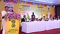 Dharmendra Pradhan addressing at the signing ceremony of an MoU between Numaligarh Refinery Ltd., Paradip Port Trust and Indian Oil Corporation Ltd., at Bhubaneswar, in Odisha.jpg
