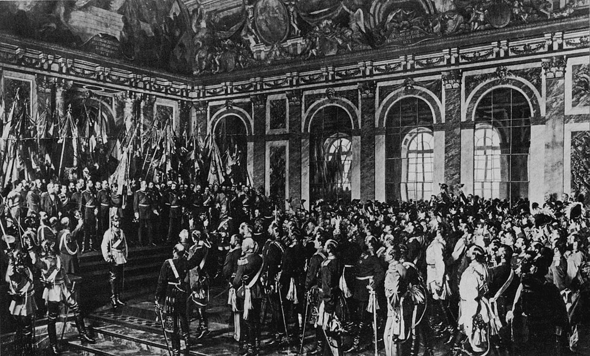 Image result for the proclamation of the german empire