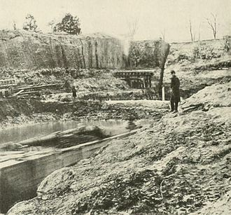 Dutch Gap - Progress on the digging of Butler's canal in November 1864