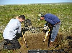 Permafrost simple english wikipedia the free encyclopedia for Soil encyclopedia