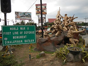 Battle of Bataan - WWII First Line of Defense Memorial (Dinalupihan, Bataan, Philippines).