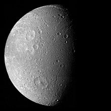 Dione from Voyager 1