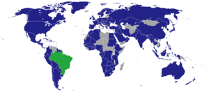 Foreign relations of Brazil - Image: Diplomatic missions of Brazil