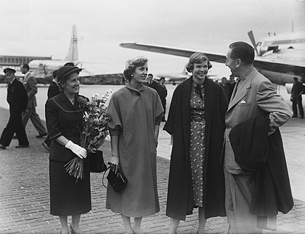 Disney family at Schiphol Airport (1951)