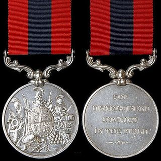 Distinguished Conduct Medal United Kingdom military decoration for bravery