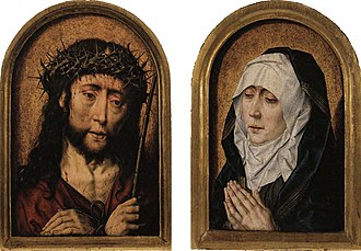 Our Lady of Sorrows - Ecce Homo and Mater Dolorosa Diptych, c. 1491–1520. Aelbrecht Bouts