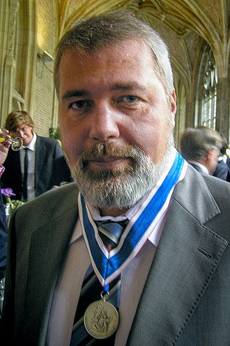 Novaya Gazeta - Ex-editor in chief Dmitry Muratov shortly after having received the Four Freedoms Award on behalf of Novaya Gazeta.