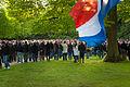 Dodenherdenking 4 mei 2010 Enschede, Monument in het Volkspark.jpg