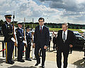 Donald Rumsfeld escorts Irakli Okruashvili (June 17, 2005).jpg