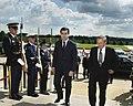Donald Rumsfeld escorts Irakli Okruashvili (June 17, 2005).jpg