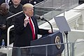 Donald Trump delivering inauguration speech 2017-01-20.jpg