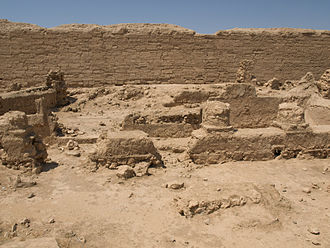 Dura-Europos synagogue - Courtyard, western porch and prayer hall