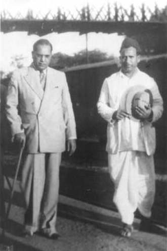Bhaurao Krishnaji Gaikwad - Dr. Ambedkar with Dadasaheb Gaikwad at Nashik