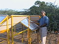 Dr Sharan at condenser test ground.JPG