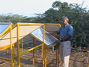 Dr Sharan at condenser test ground