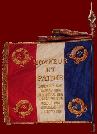 9th Parachute Chasseur Regiment - 9th Parachute Chasseur Regimental Colors