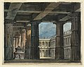 Drawing, Stage Design, Classical Loggia and Courtyard, early 19th century (CH 18358939).jpg