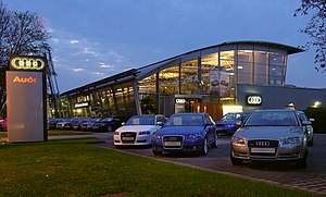 Audi dealership in Dresden, Germany