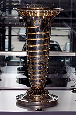 Drivers' World Championship trophy 2004 replica front1 2019 Michael Schumacher Private Collection.jpg