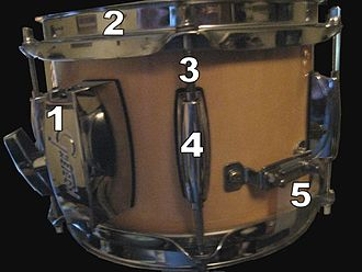 Drum hardware - Image: Drum clamp rim lug butt