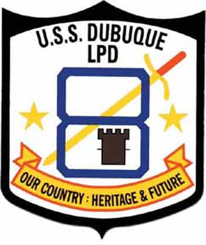 USS Dubuque (LPD-8) - Seal of the Dubuque
