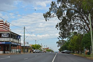 Dunedoo Town in New South Wales, Australia