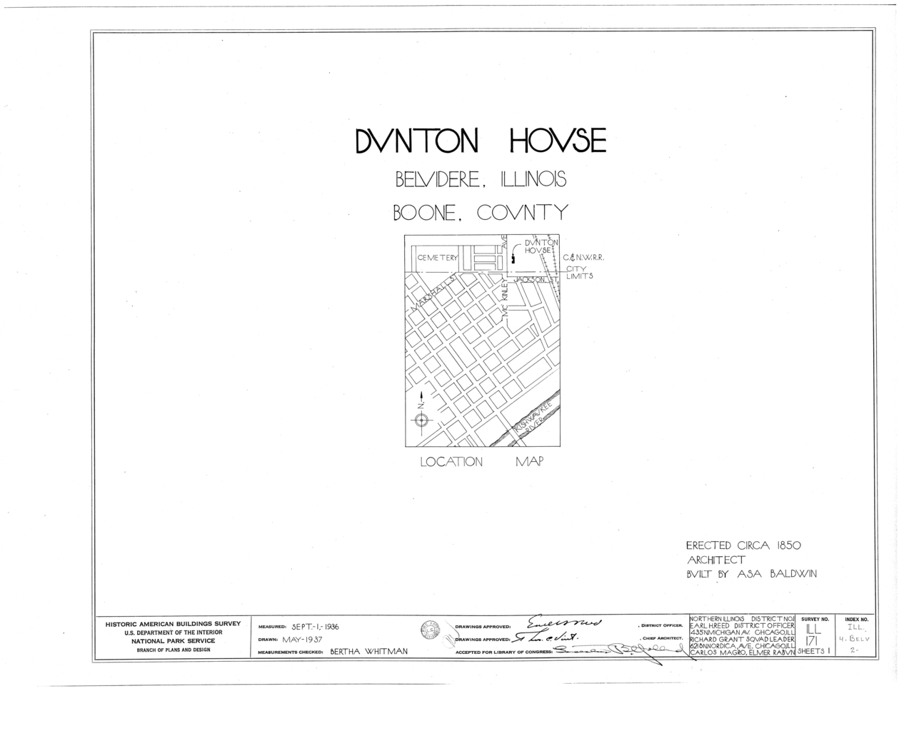Illinois boone county belvidere - File Dunton House 807 Mckinley Avenue Belvidere Boone County Il Habs Ill 4 Belv 2 Sheet 0 Of 1 Png