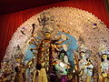 Durga puja, garlands for her.JPG